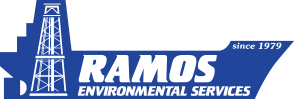 The Ramos Environmental Services Logo of a blue ship