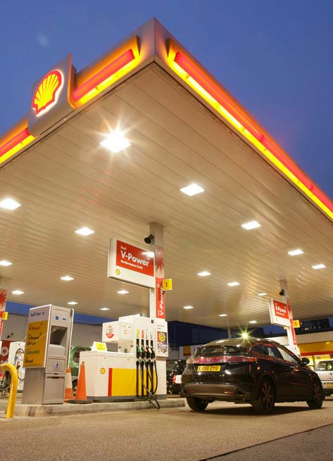 Photo of a Shell Fuel retail station